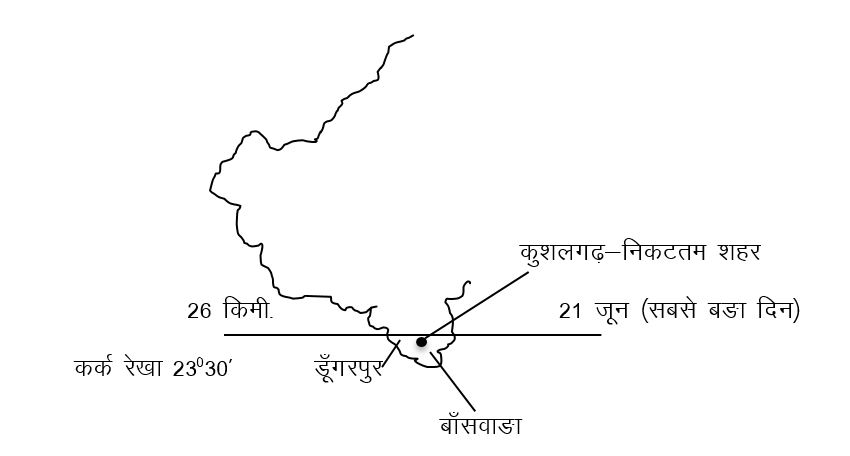 Rajasthan Map in hindi