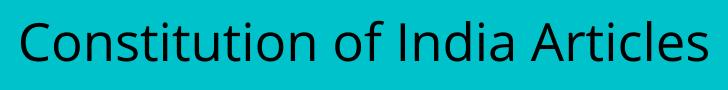Constitution of India Articles