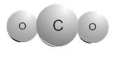 Nature of Matter - Carbon Dioxide molecule (CO2)