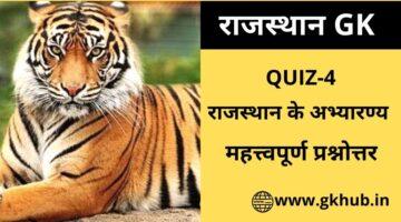 Rajasthan Gk Quiz 4-राजस्थान के अभ्यारण्य-Reserves of Rajasthan
