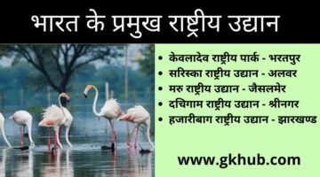 National parks in India – General Gk