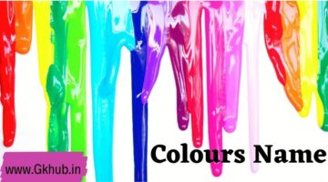 Colours Name in English -Learn With Us