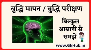 बुद्धि मापन -Buddhi Parikshan – INTELLIGENCE TESTING – बुद्धि परीक्षणों के प्रकार