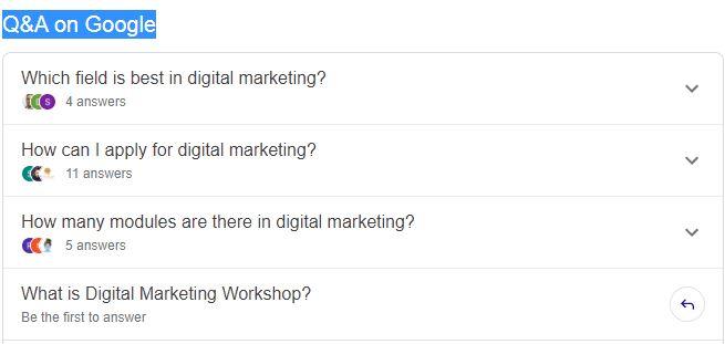 Google q&a question answer community tab
