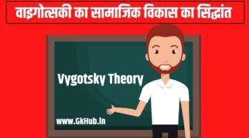 Vygotsky Theory in Hindi – वाइगोत्सकी का सामाजिक विकास का सिद्धांत