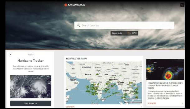 AccuWeather Website