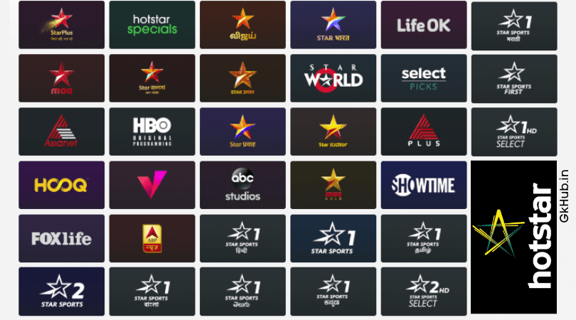List of Hotstar Live TV and News Channels